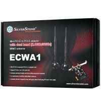 Silverstone ECWA1 Mini PCIe Wifi Card Adapter with Dual Band 5dBi Antenna