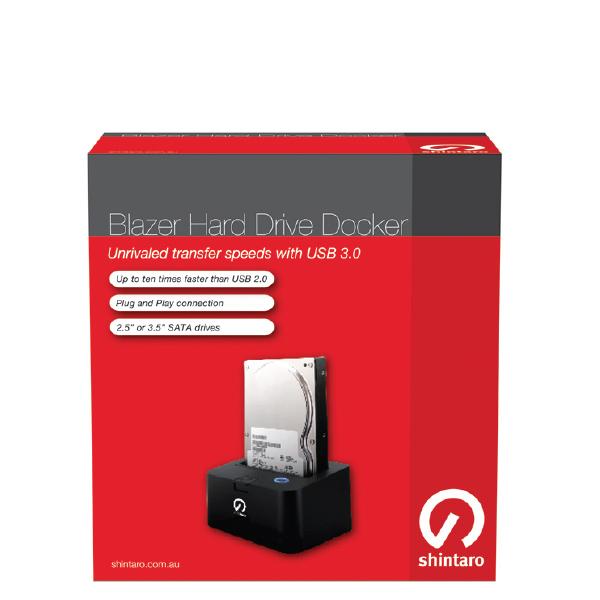 Shintaro Blazer Docker USB3 0 2 5/ 3 5 SATA HDD Dock