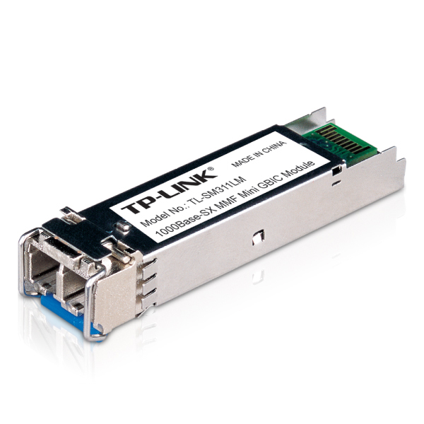 TP-LINK TL-SM311LM Gigabit SFP module Multi-mode MiniGBIC LC interface Up to 550/275m distance