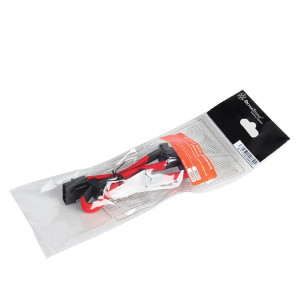 Silverstone PP07-BTSR 4 Pin to 4 SATA(320mm) RED