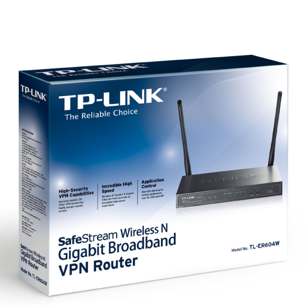 TP-Link TL-ER604W SafeStream Wireless N Gigabit Broadband VPN Router, 1  Gigabit WAN Port, 3 Gigabit