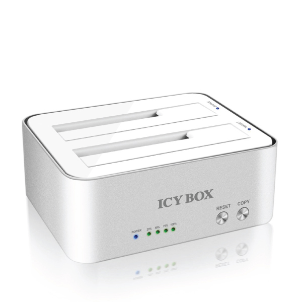 ICY BOX IB-120CL-U3 2-Bay Docking and Clone Station for 2.5 Inch & 3.5 Inch SATA HDDs