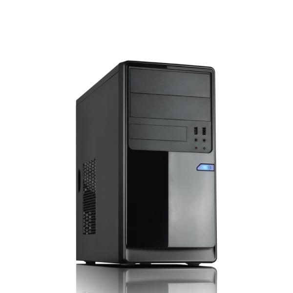 Casecom CM13B mATX Case 550W w 12cm fan Black USB3.0