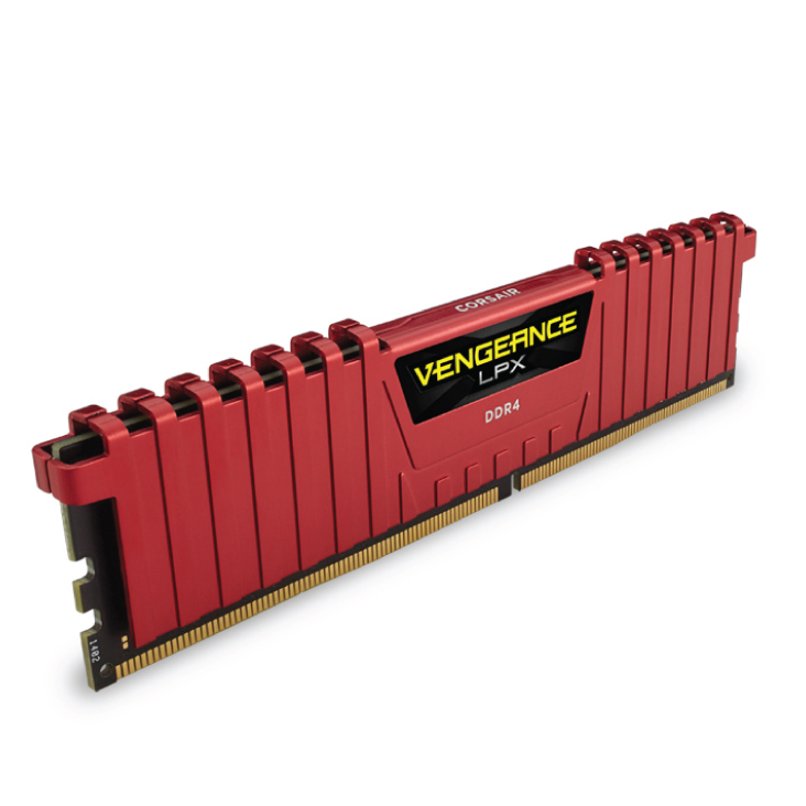Corsair 16GB (2x8GB) CMK16GX4M2A2133C13R DDR4 2133MHz Vengeance LPX DIMM Red
