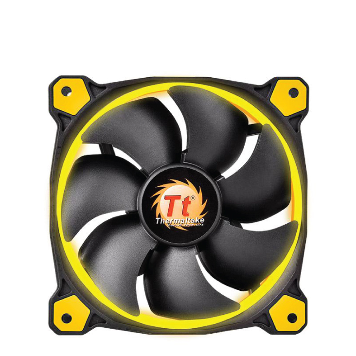 Thermaltake Riing 14 High Static Pressure 140mm Yellow LED Fan