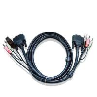 Aten DVI KVM Cable with Audio 1.8m