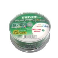 Maxell DVD-R 4.7GB 25PK Spindle White Surface
