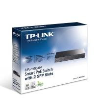 TP-Link TL-SG2210P 8-Port Gigabit Smart PoE Switch with 2 SFP Slots, PoE power budget of 53W, 8