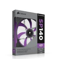 "Corsair ""Air Series"" SP140 LED Single Purple LED,Purple High Static Pressure 140mm Fan"