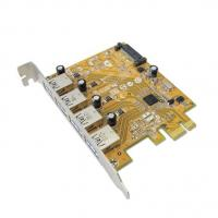 Sunix USB4300NS PCIE 4-Port USB 3.0 Card (SATA power connector)