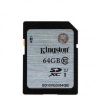 Kingston 64GB SDHC CLASS10 UHS-I 80MB/S READ SD10VG2/64GBFR
