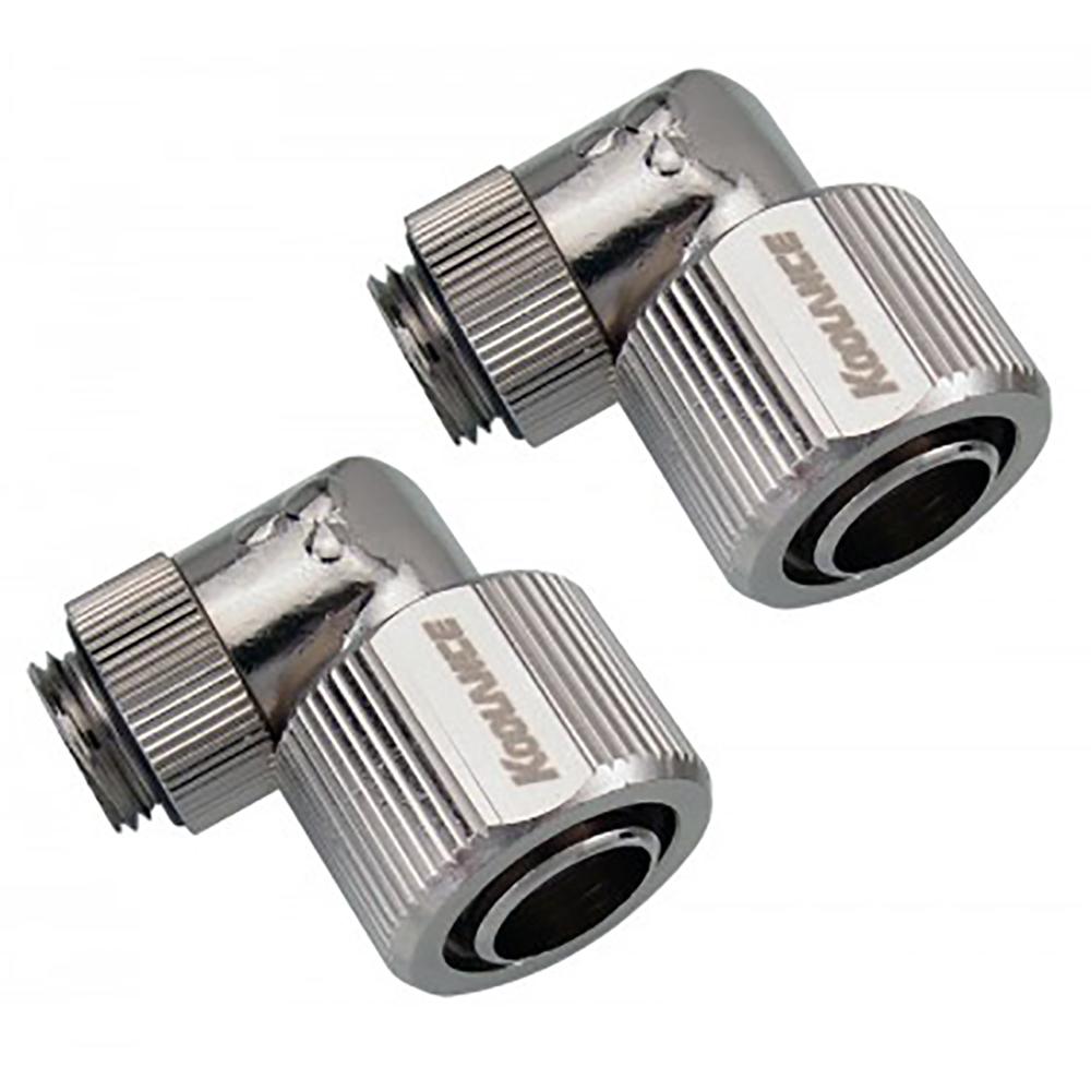 Koolance NZL-L13P Nozzle (Pair) Swivel Angled, for ID: 13mm, OD: 16mm.