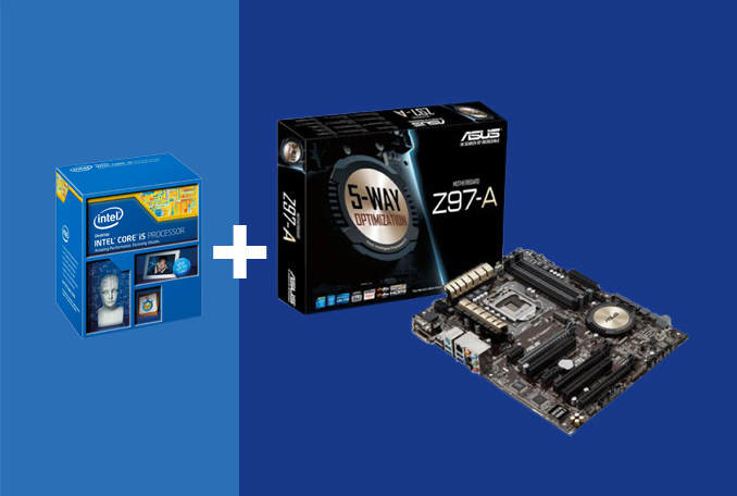 Intel i5 4690K CPU + Asus Z97-A Motherboard Combo