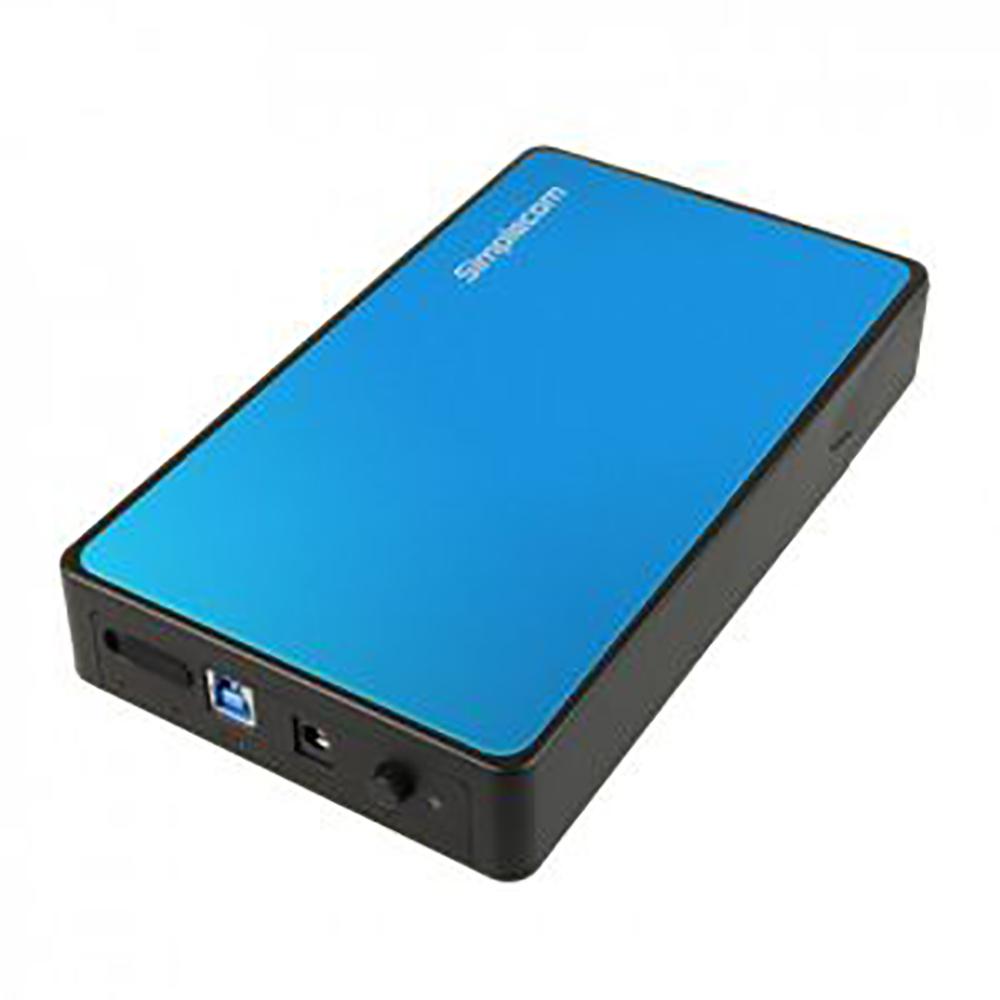 Simplecom SE325 Tool Free 3.5inch USB 3.0 Hard Drive Enclosure Blue