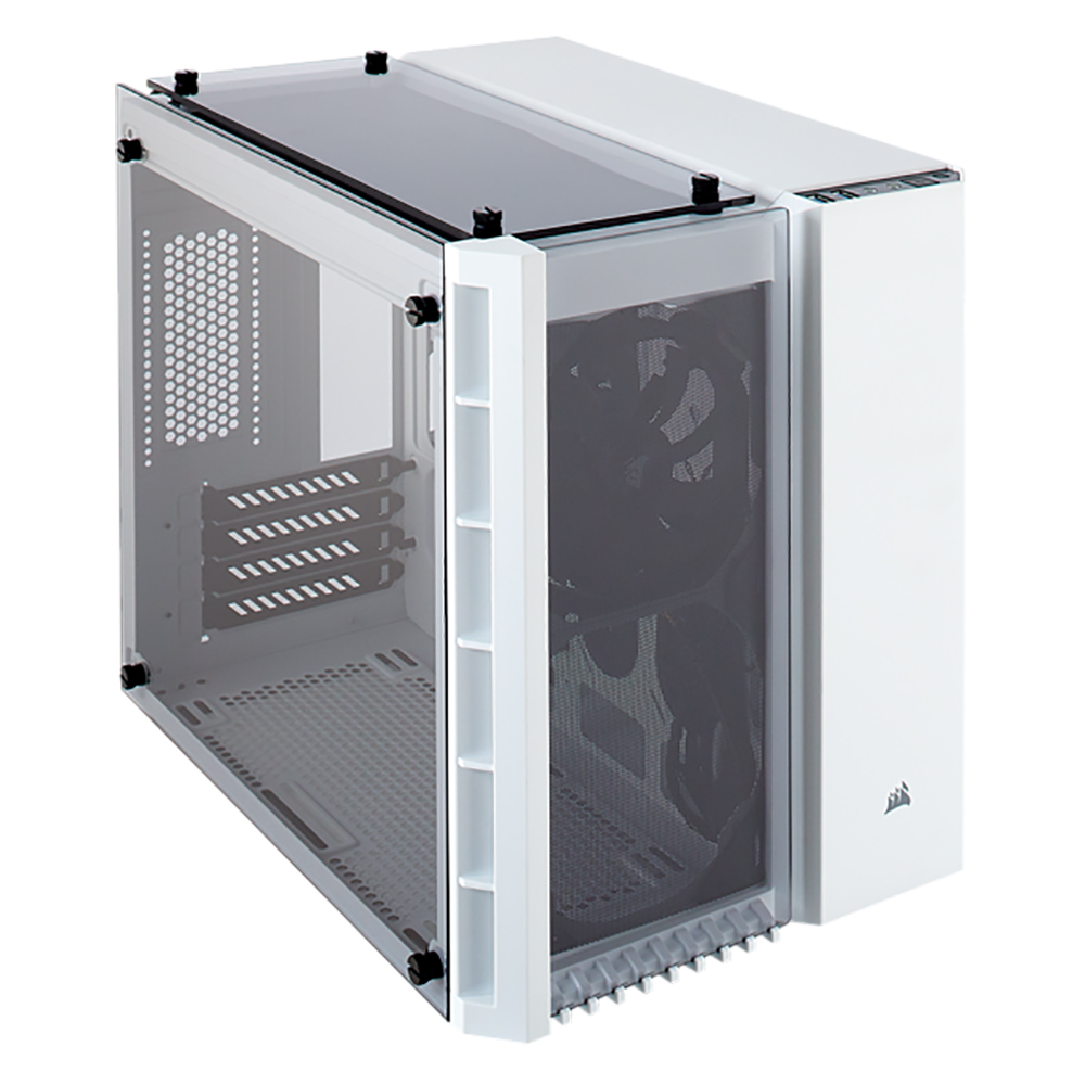 Corsair Crystal 280X Tempered Glass mATX PC Case - White