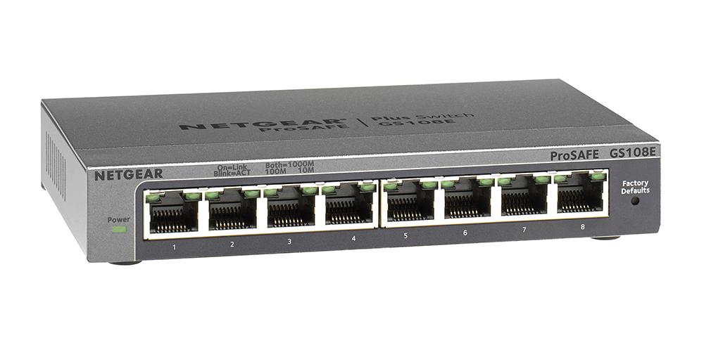 Netgear GS108E-300AUS 8-Port Gigabit Smart Managed Switch