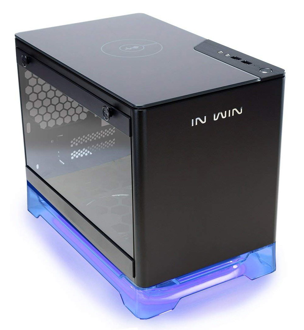 Inwin A1 Tempered Glass Rgb Mini Itx Case With 600w Psu And Qi Temperglass Charger