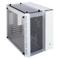 Corsair Crystal 280X Tempered Glass mATX PC Case - White