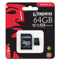 Kingston 64GB SDCG2/64GB Canvas Go MicroSD 90MB/s read 45MB/s write