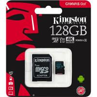 Kingston 128GB SDCG2/128GB Canvas Go MicroSD 90MB/s read 45MB/s write