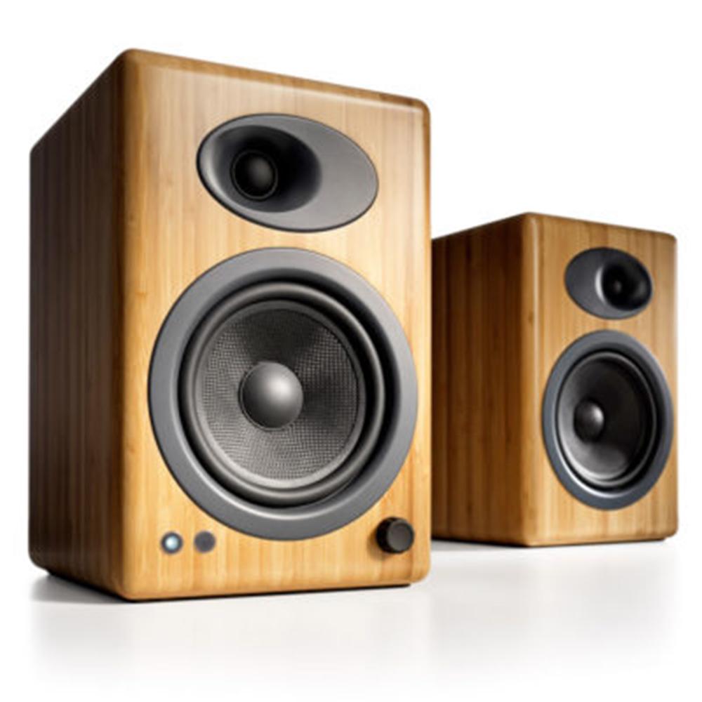 Audioengine 5+ Wireless Active Speakers - Solid Bamboo