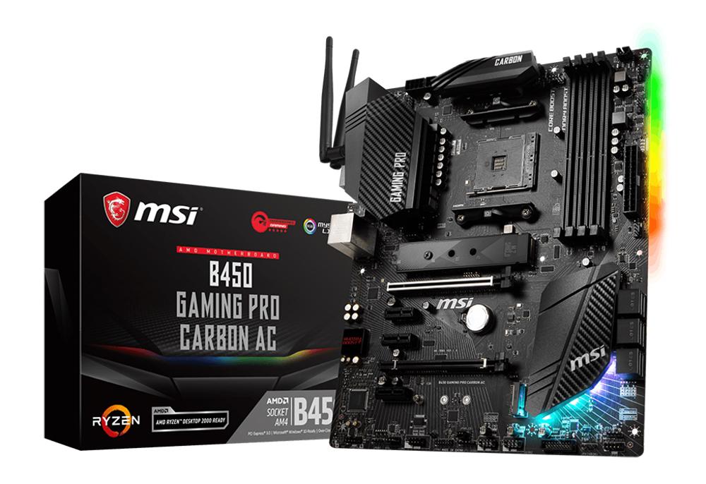 MSI B450 Gaming PRO Carbon AC WIFI ATX Motherboard