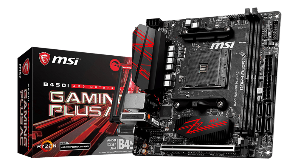 MSI B450I Gaming Plus AC WIFI AM4 ITX Motherboard