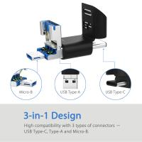 Silicon Power 32GB C50 3 in 1 OTG Flash Drive (Type-C, Micro B and Type-A)