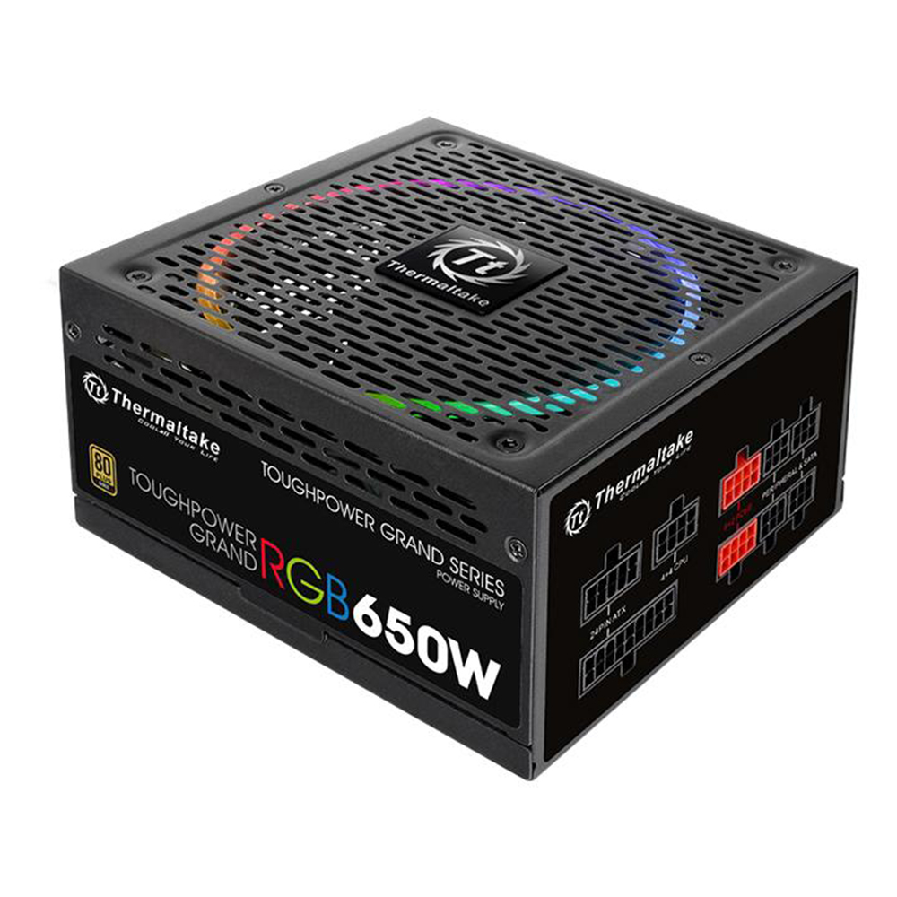 Thermaltake 650w Toughpower Grand RGB 80+ Gold Power Supply(RGB Sync Edition)