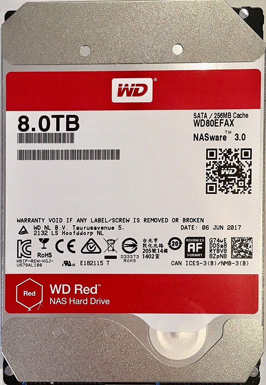 """Western Digital Red WD80EFAX 8TB 3.5"""" NAS Hard Drive"""
