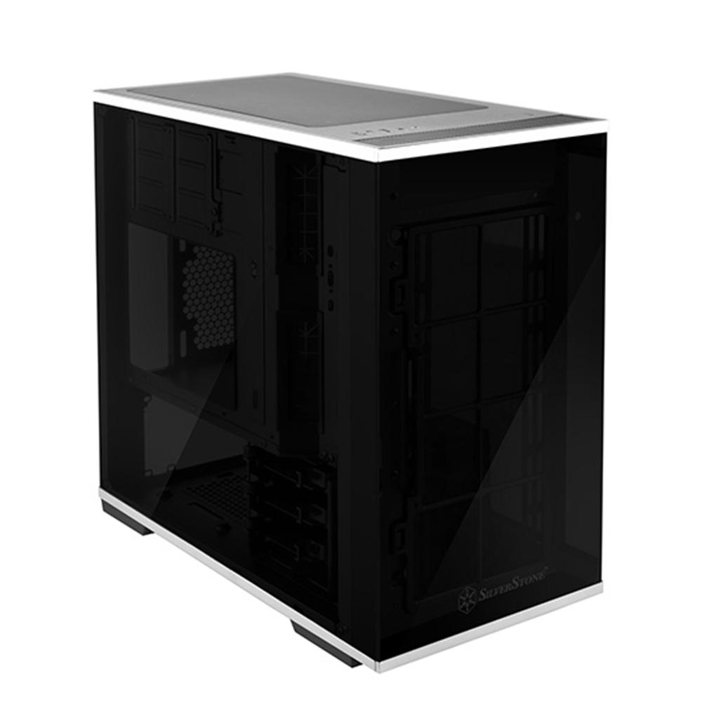 Silverstone Lucid Series Ld01 Black Tempered Glass Micro Atx Case Casing Pc Open Air Mini Itx Mikro