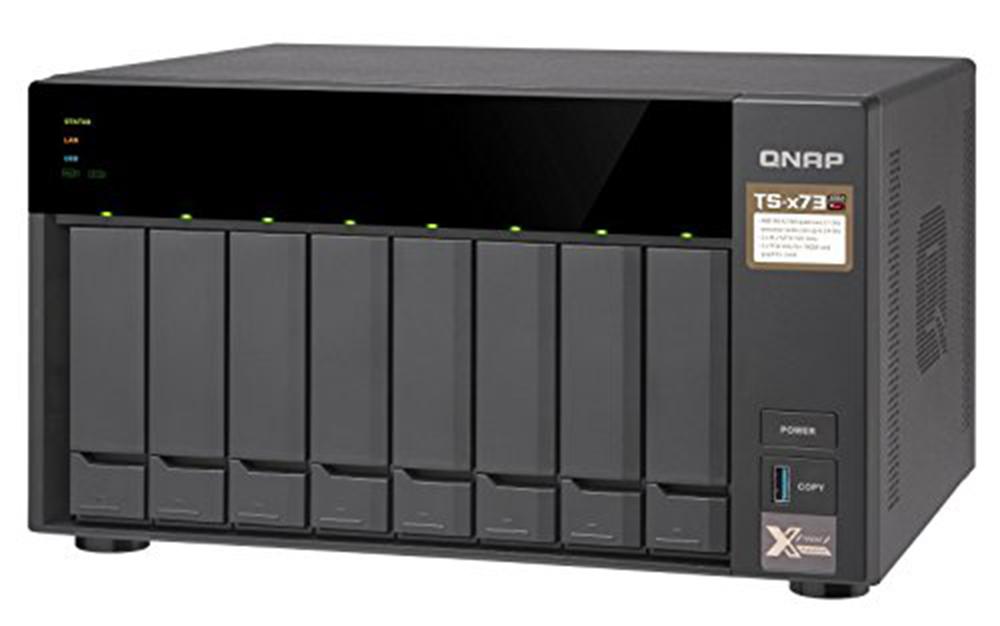 QNAP TS-873 8 Bay Diskless NAS AMD RX-421ND Quad Core CPU 8GB RAM