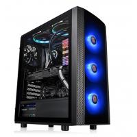 Thermaltake Versa J25 RGB Edition ATX Tempered Glass - Black