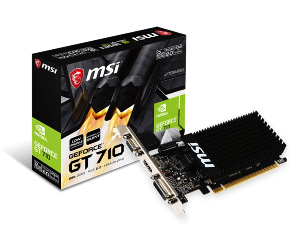 MSI GT 710 2G DDR3 Low Profile Graphics Card