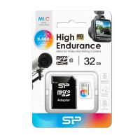 Silicon Power 32GB High Endurance microSDHC for Full HD,Shock-Proof,IPX7(with Adapter)