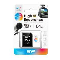 Silicon Power 64GB High Endurance microSDHC for Full HD,Shock-Proof,IPX7(with Adapter)