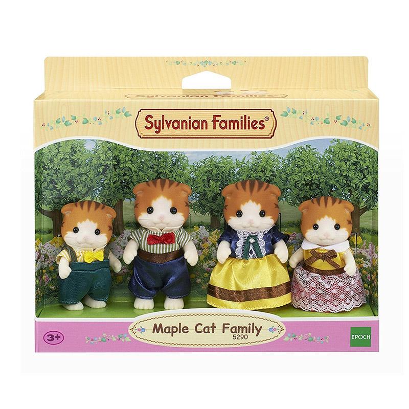 Sylvanian Familes Maple Cat Family