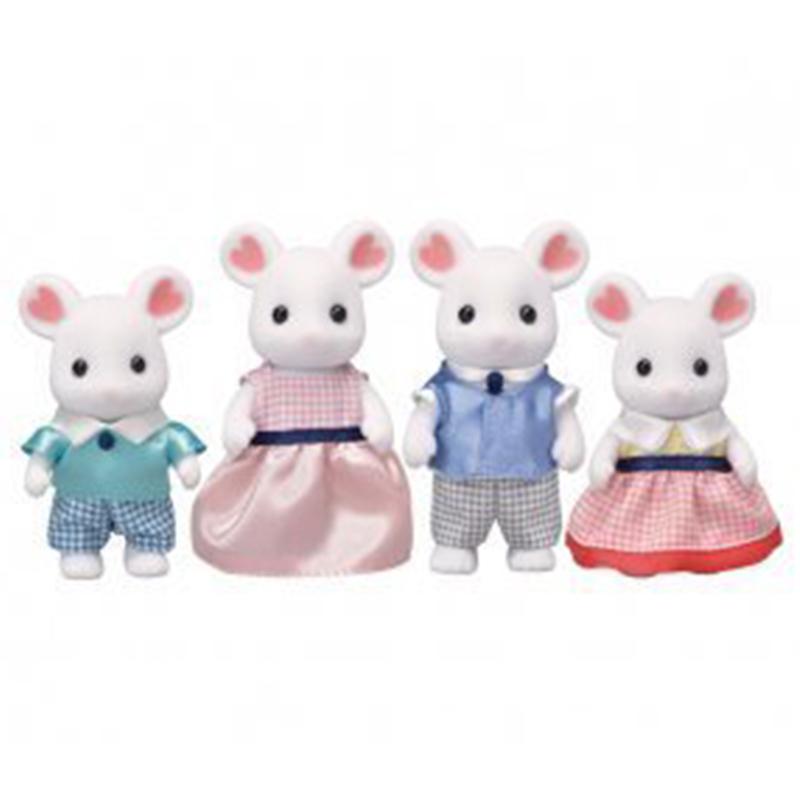 Sylvanian Familes Marshmallow Mouse Family