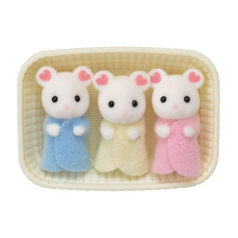 Sylvanian Familes Marshmallow Mouse Triplets