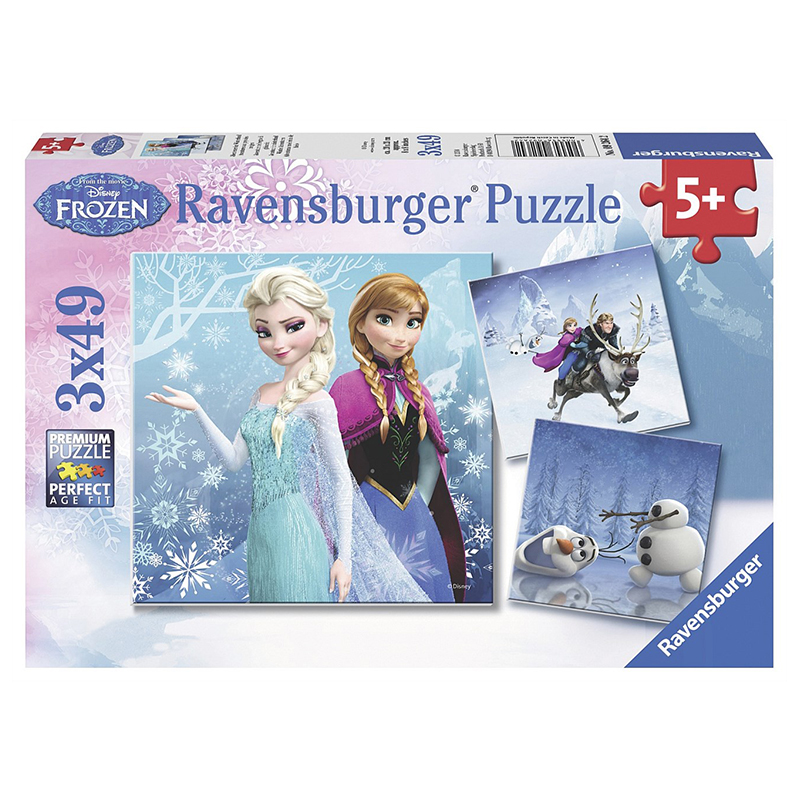 Ravensburger Disney Winter Adventures Puz 3x49pc
