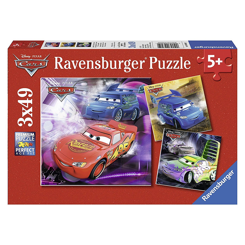 Ravensburger Disney Cars Puzzle 3x49pc