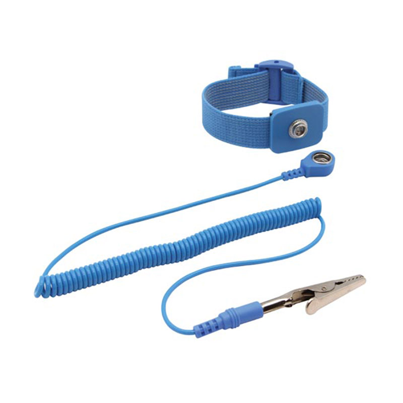 Velleman AS3 Anti-Static Wrist Strap with 1 8m Coiled Cord