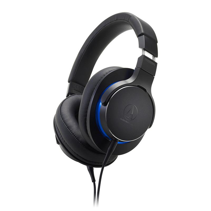 Audio Technica ATH-MSR7b Premium Hi-Res Balanced Input Headphones - Black