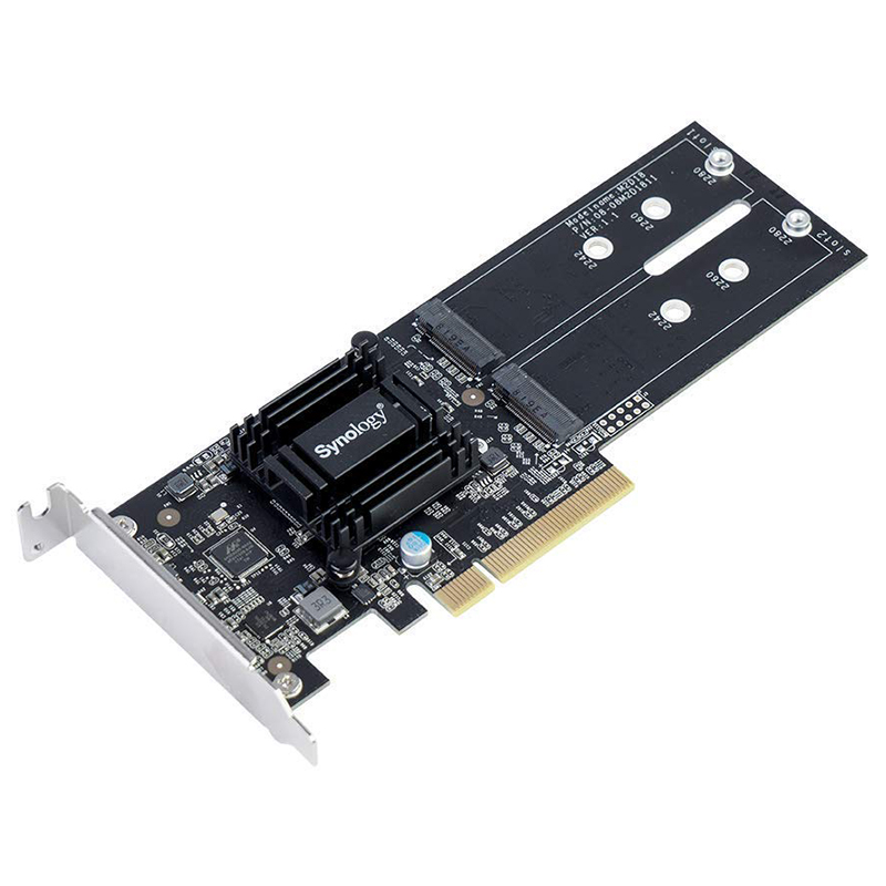 Synology M2D18 M.2 NVMe or SATA PCIe NAS Adapter Card