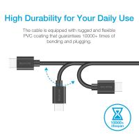 Silicon Power Quick Charge 3.0 USB Micro B to USB-A 3.0 Data Transfer Charger Cable-Black,PVC
