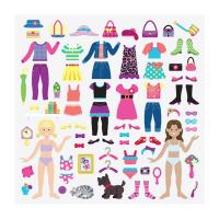 Melissa & Doug Reusable Puffy Sticker Play Set - Dress-Up