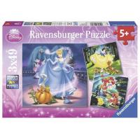 Ravensburger Disney Snow White Cinderella Ariel 3x49pc