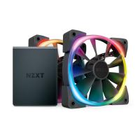 NZXT 120mm Aer RGB 2 PWM 1500RPM Fan 2 Pack With HUE 2 Lighting Controller