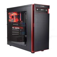 Inwin 703 Black Mid Tower Gaming Case Aluminum Hairline Textured Panel