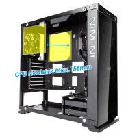 Inwin 805C ATX Mid Tower Aluminum Glass Window Water Cooling Ready No PSU USB-C (Black)